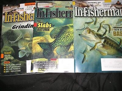 """LOT OF 3... """"IN-FISHERMAN"""" MAGAZINES... 2017 & 2018... Great condition..."""