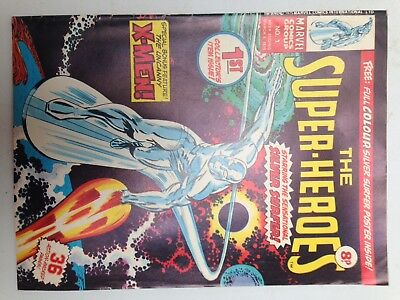 The Super-Heroes #1 : Vintage Marvel Comic : March 1975 With free poster!