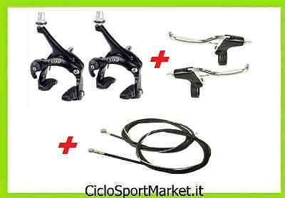 Couple Brakes NOIR + Wire and Sheath noir + Levers BRAKE Aluminum for bicycle