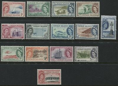 Cayman Islands QEII 1st complete set to 10/ mint o.g.(JD)