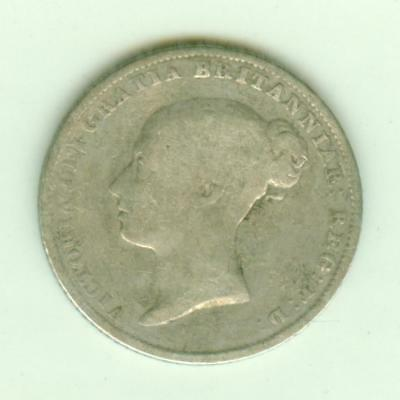 British Silver 1855 6 Pence-Lot D3