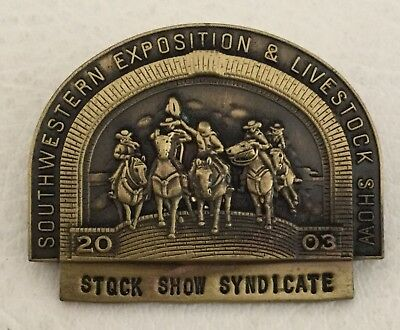 2003 Stock Show Fort Worth Rodeo Pin Badge