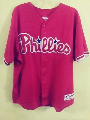 1a41a3f21 PHILADELPHIA PHILLIES AUTHENTIC Majestic Vintage Jersey Mens -Xl ...
