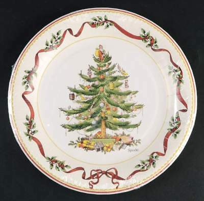 Spode CHRISTMAS TREE Holly u0026 Ribbon Pack Of 8 Paper Dinner Plates 10137099 & SPODE CHRISTMAS TREE Paper Dinner Plates New In Package - $9.85 ...