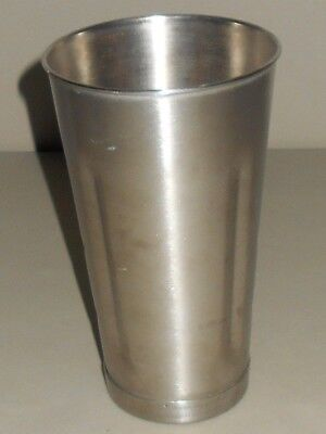 Stainless Steel Vintage Milkshake Blender Mixing Cup 18-8 Heavy