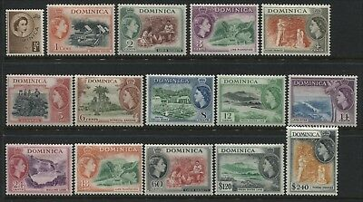 Dominica QEII 1st complete set to $2.40 mint o.g.(JD)