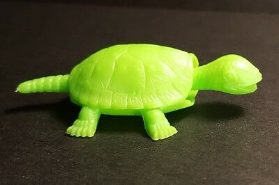 R&L NOODLE NODDERS 1968 Cereal Toy ~ NOBBLY NODDER TURTLE ~ Light Green Kellogs