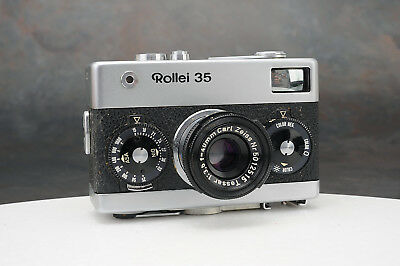 - Rollei 35  Camera w Zeiss Tessar 40mm f3.5 Lens, Needs Service, Germany