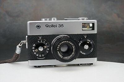 - Rollei 35 Camera w Zeiss Tessar 40mm f3.5 Lens - Made in Germany