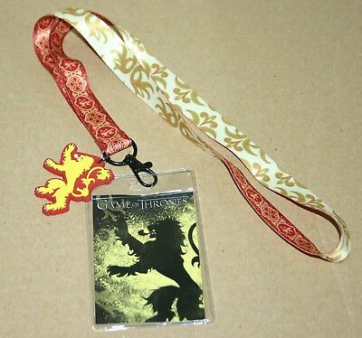 *BRAND NEW WITH TAGS* Game of Thrones House Lannister Lanyard