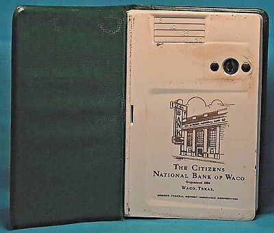 CITIZENS NATIONAL BANK of WACO (Texas) Book Shaped Coin BANK possibly 1960's