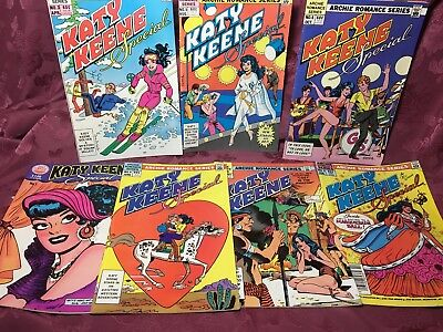 Lot Of 7 Katy Keene Special Comic Books Vol.1 No. 1, 2, 3, 4, 5, 6, 7, 1983 - 84