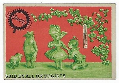 Sapanule Cure late 1800's medicine trade card variation #F (2 of 2)