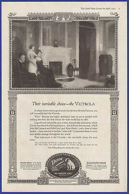 Vintage 1919 VICTOR Victrola Phonograph Talking Machine Ephemera Print Ad