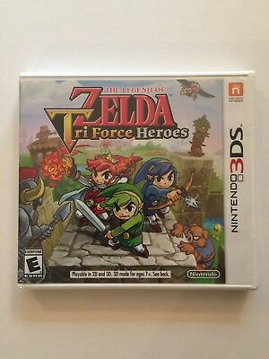 Legend of Zelda: Tri Force Heroes (Nintendo 3DS, 2015) NEW