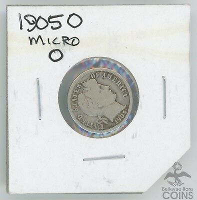 Rare Variety! Low Mintage 1905-New Orleans Barber Dime 10c Micro O