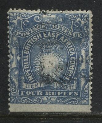 British East Africa 1890 4 rupees used (JD)