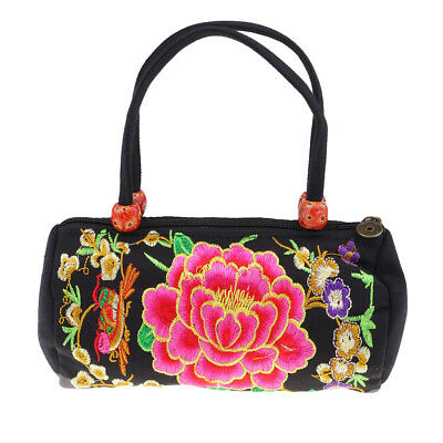 Embroidery Shoulder Bag Mini Portable Canvas Female Bag National Lady Bag