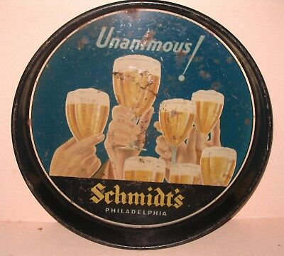 Schmidts Philadelphia Beer Tray Unanimous Variation with Hands Raising Glasses
