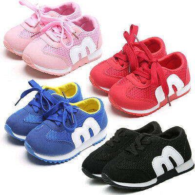 New Baby Toddler Boys Girls Sport Running Mesh Shoes Kids Infant Casual Sneakers