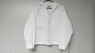 Us Navy Women's Sailor Uniform Top Jumper White Middy Usn S M L Xl Cracker Jack