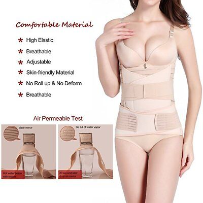 Women 3 in 1 Postpartum Girdle Support Recovery Belly Band Body Shaper Corsets