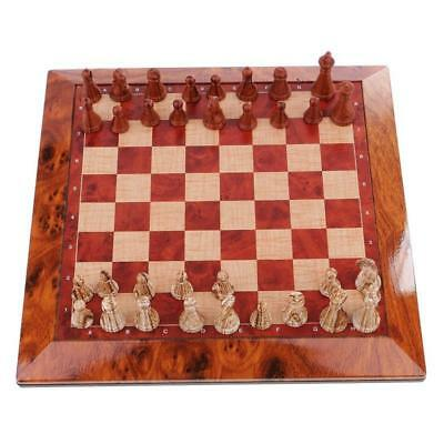 Chess Vintage 32 Pieces Exquisite Portable Game Wooden For Family Friends Gift
