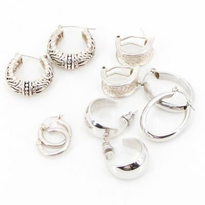 VTG Sterling Silver - Lot of 5 Assorted Earring Pairs NOT SCRAP - 30g