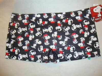 "Peanuts Snoopy ""joe Cool""  Ladies Boy Shorts ""undies"" Nwts Size Large"
