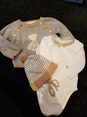 Jacardi Boys Jumper, all-in-one and matching beanie 12mths