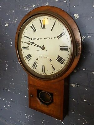 Seth thomas, Napoleon watch co station clock, victorian office clock wall clock