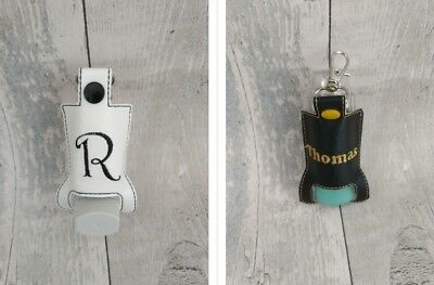 Personalised Asthma Inhaler Case Pouch holder Rigid & Stylish - Black or white