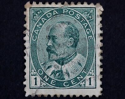 Canadian Stamp, Scott #89 Fine NG 1 Cent, 1903-1908 King Edward VII