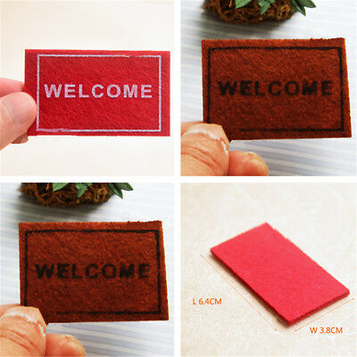 1/12 Mini Dollhouse Carpet Toy Furniture Doll House Cloth Thread Rug Home Decor