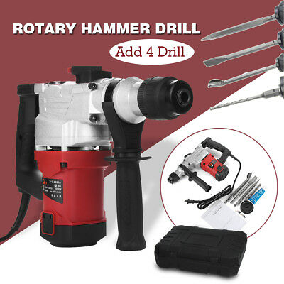 Electric 1850W Hammer Drill Concrete Demolition Jackhammer Tool + 4 Chisels AU