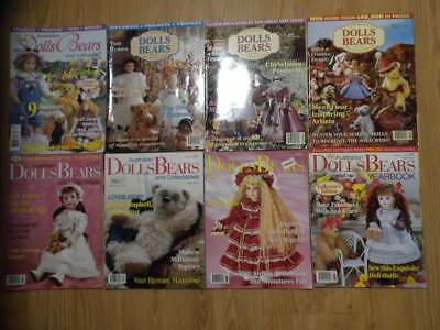Australian Dolls Bears & Collectables 8 Magazines With Patterns  Will Split