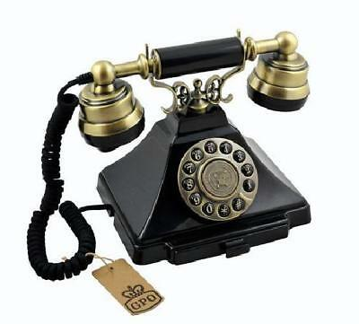 Retro Corded Telephone Classic Push Button Dial Phone Vintage Antique Ringer