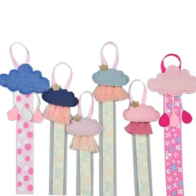 Baby Girls Ribbon Hanging Hair Bow Headband Clip Organizer Cloud Tassels Holder