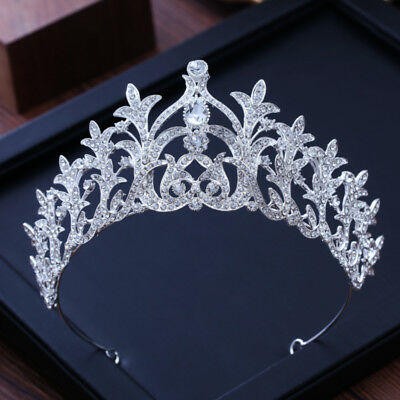 7cm High Clear Crystal Wedding Bridal Party Ice Queen Pageant Prom Tiara Crown