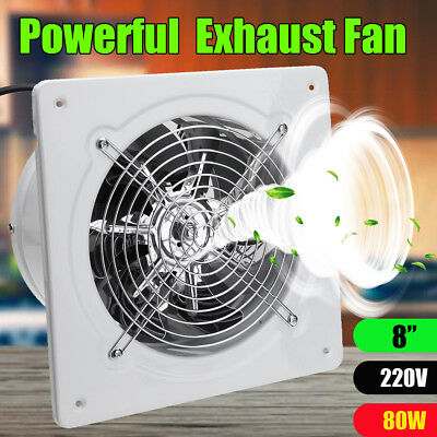 AU 8'' 80W High Speed Exhaust Fan Ventilation Extractor Kitchen Bathroom Toilet