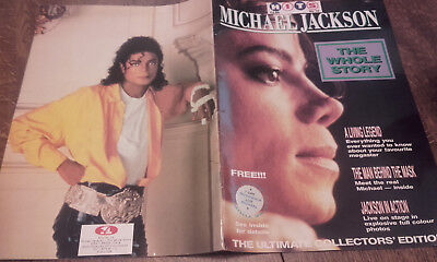 """1989(No.10)""""hits""""michael Jackson """"the Whole Story"""" 52 Page Collectors Magazine"""