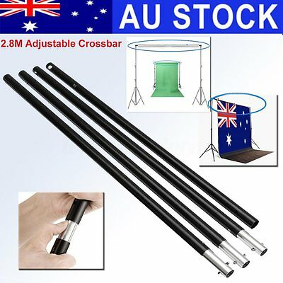 AU Photo Studio 2.8m/9.2ft Adjustable Crossbar Background Backdrop Support Stand