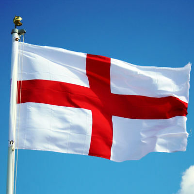 Large England St George Flag 3ft x 2ft / 91cm x 61cm with Brass Eyelets
