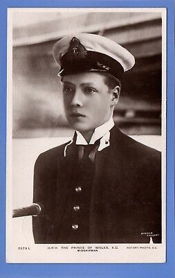 Old Vintage 1912 Rp Postcard Edward Young Prince Of Wales In Uniform Midshipman