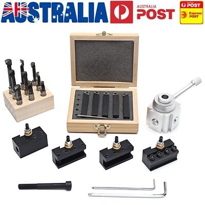 19Pcs Quick Change Tool Post Mini Lathe CNC Boring Bar Turning Tool Holder AU