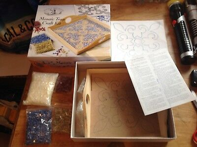 Mosaic Tray Craft Kit ( design drawn on the tray) But no tiles used
