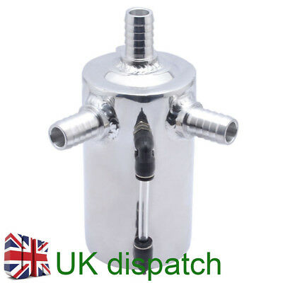 """0.5L 3/4"""" Barb Aluminum Polished car Oil Catch Can Reservoir Breather Tank 19mm"""
