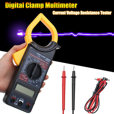 AU LCD Digital Clamp Multimeter Amp Meter Current DC Voltage Volt Tester Probe
