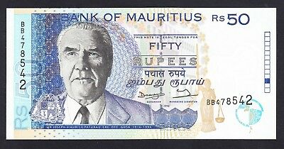 Mauritius 50 Rupees 1998 UNC P. 43,   Banknotes, Uncirculated