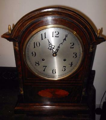 large oak inlaid coil gong westminster bracket clock bywilcox